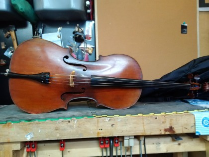 The Cello, back in performance ready condition after repair
